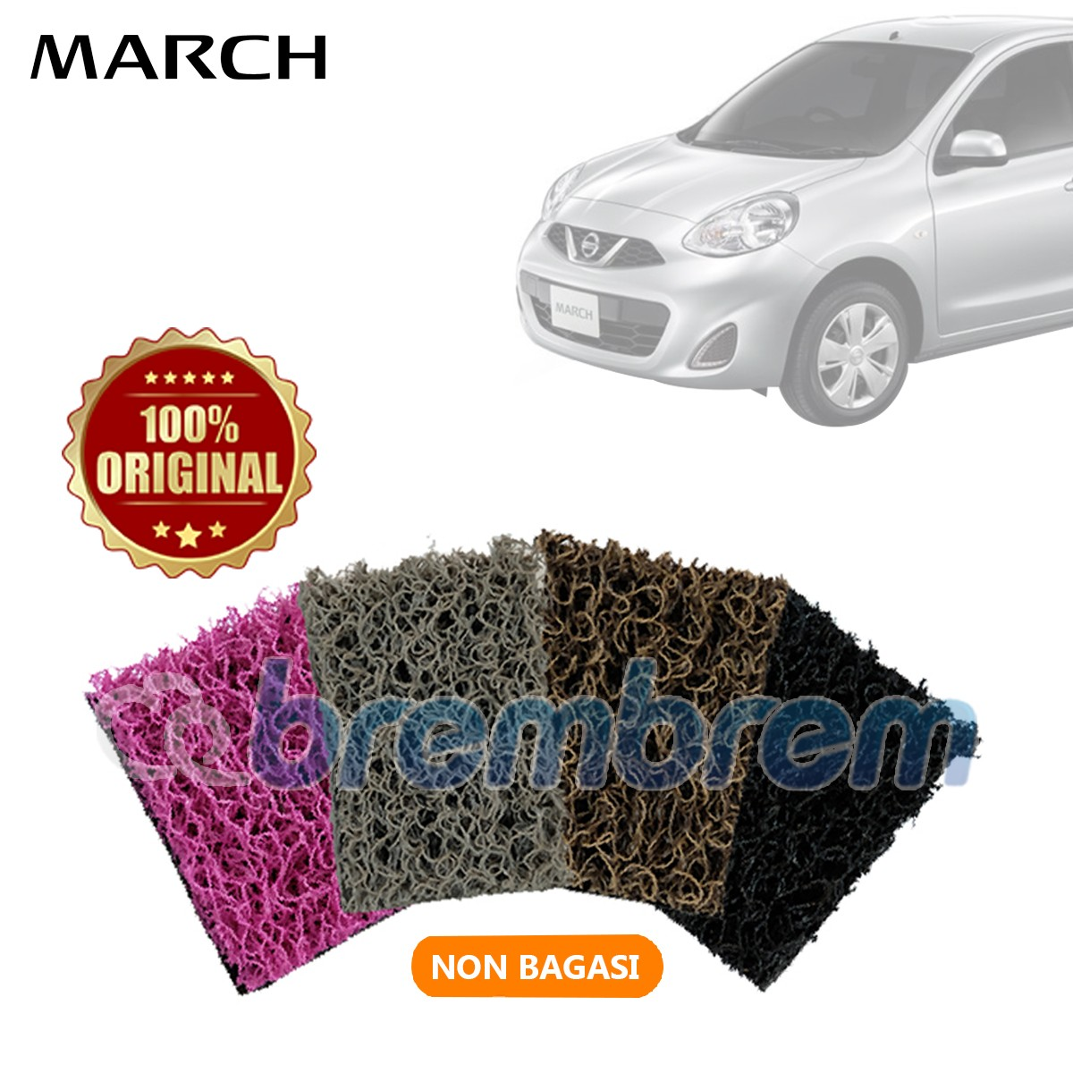 KARPET COMFORT DELUXE NON BAGASI NISSAN ALL NEW MARCH
