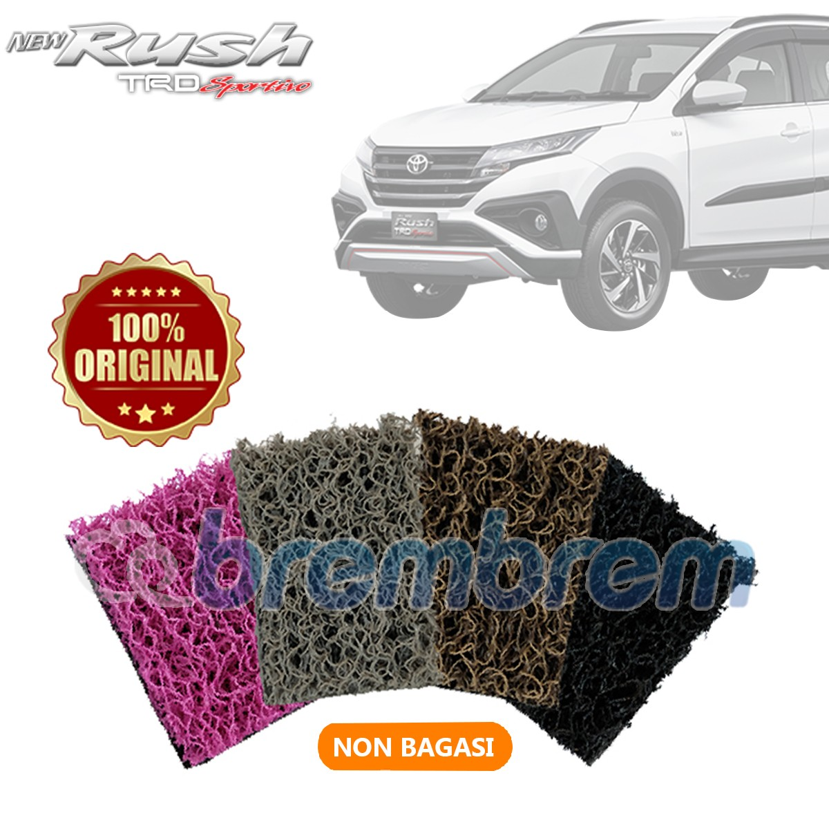 KARPET COMFORT PREMIUM NON BAGASI TOYOTA ALL NEW RUSH 2018