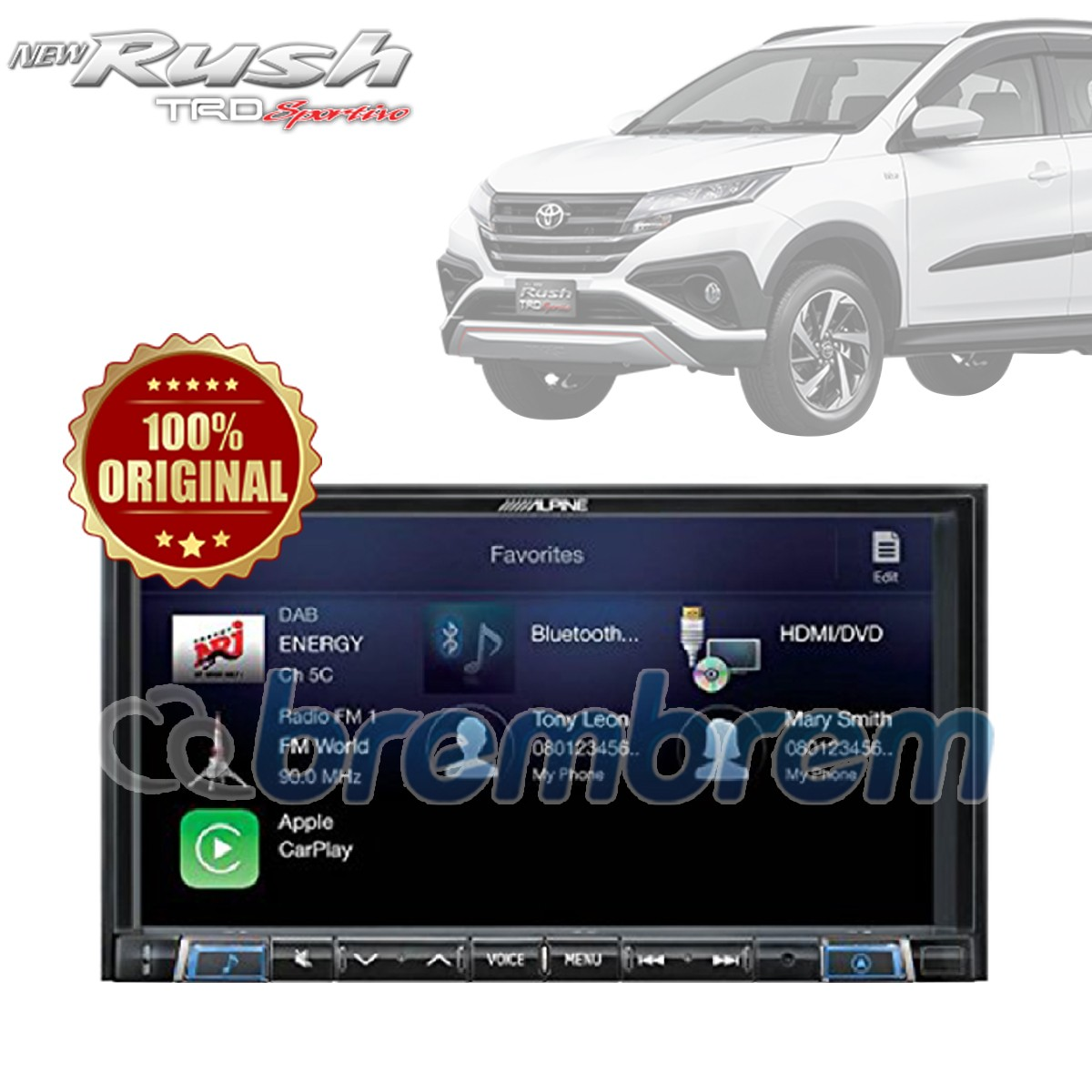 ALPINE iLX-702D - HEADUNIT DOUBLE DIN  TOYOTA ALL NEW RUSH + SOKET TOYOTA