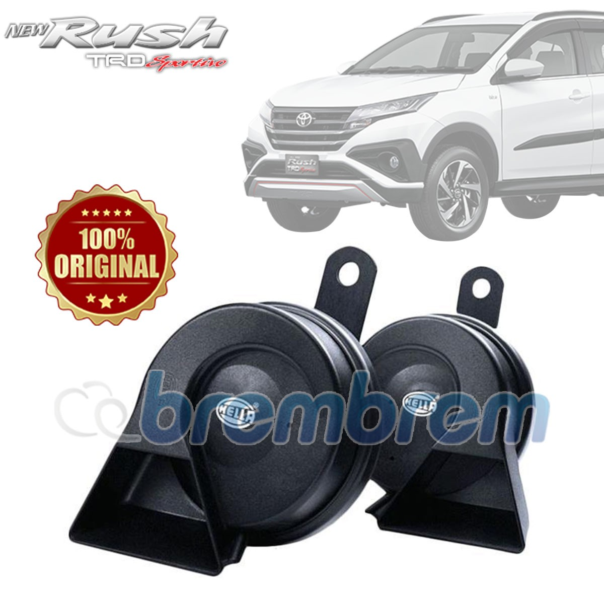 HELLA BLACK TWIN TONE - KLAKSON MOBIL TOYOTA ALL NEW  RUSH