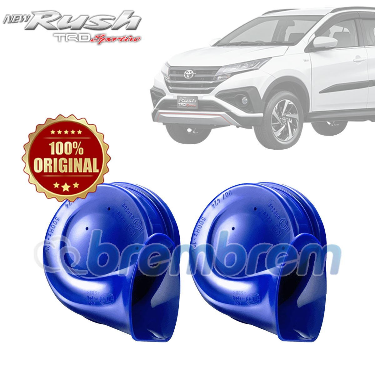 HELLA BLUE TWIN TONE - KLAKSON MOBIL TOYOTA ALL NEW RUSH