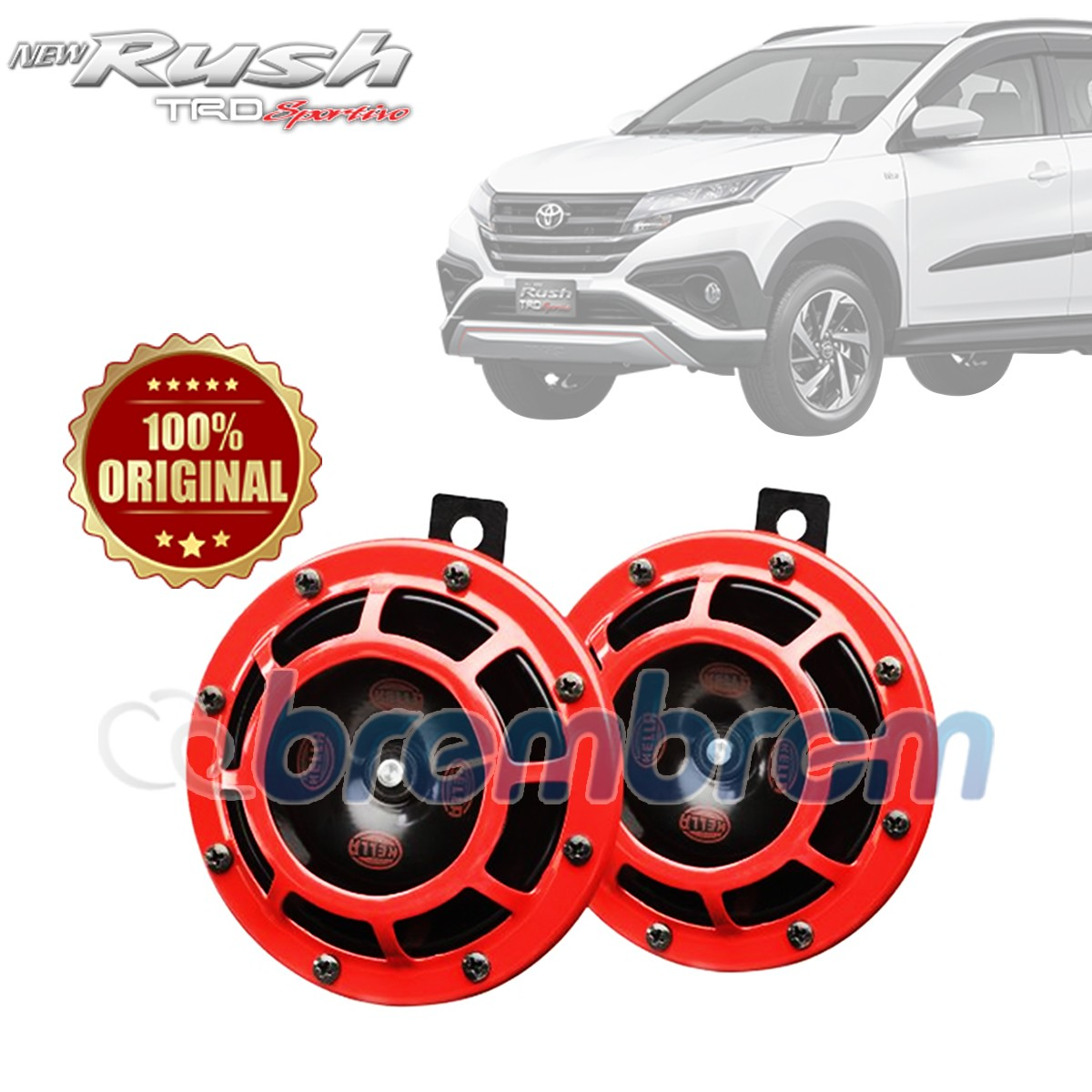 HELLA RED SUPER TONE - KLAKSON MOBIL TOYOTA ALL NEW RUSH