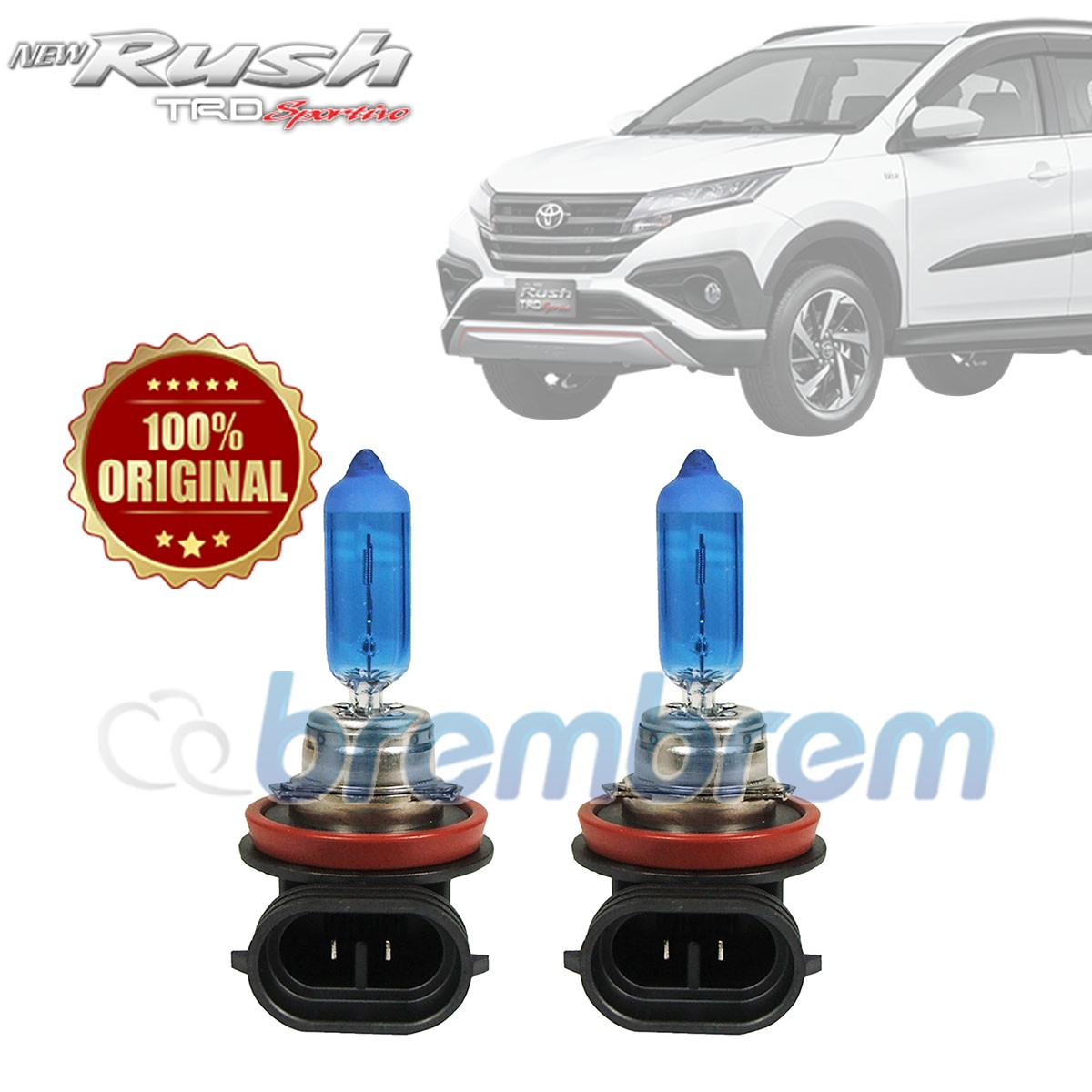 PHILIPS DIAMOND VISION H11 (5000K) - LAMPU HALOGEN TOYOTA ALL NEW RUSH