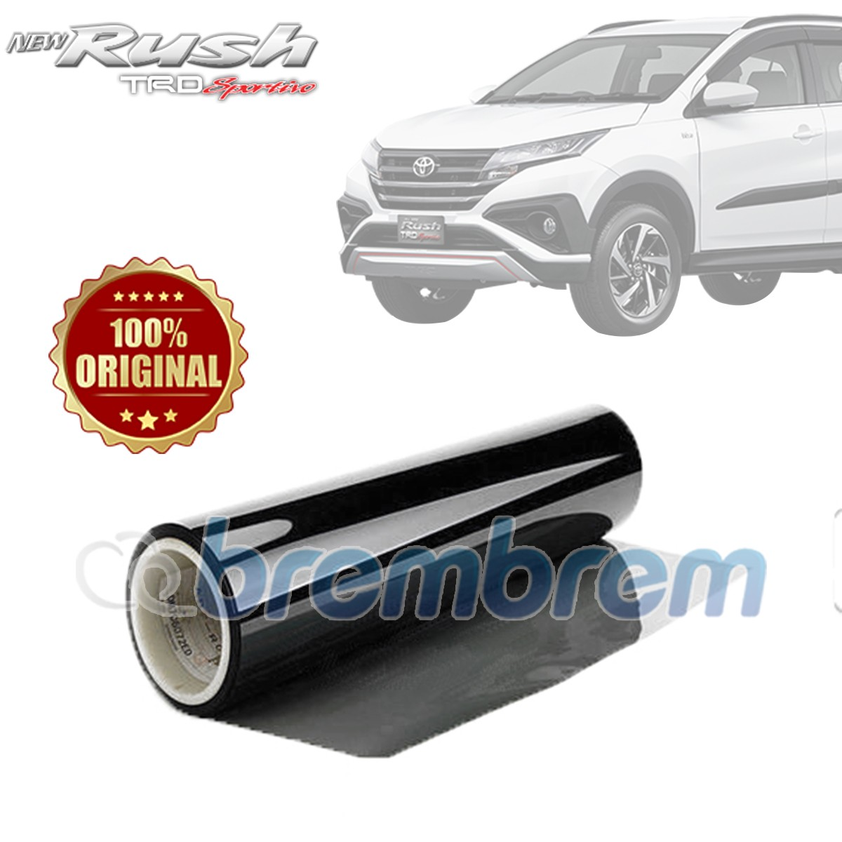 KACA FILM 3M KOMBINASI CRYSTALLINE + BLACK BEAUTY (TOYOTA ALL NEW RUSH) FULL KACA