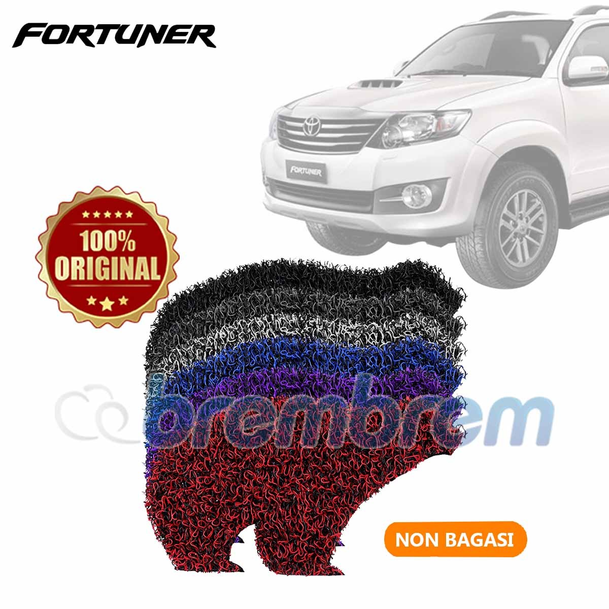 KARPET FIRST CLASS NON BAGASI TOYOTA FORTUNER