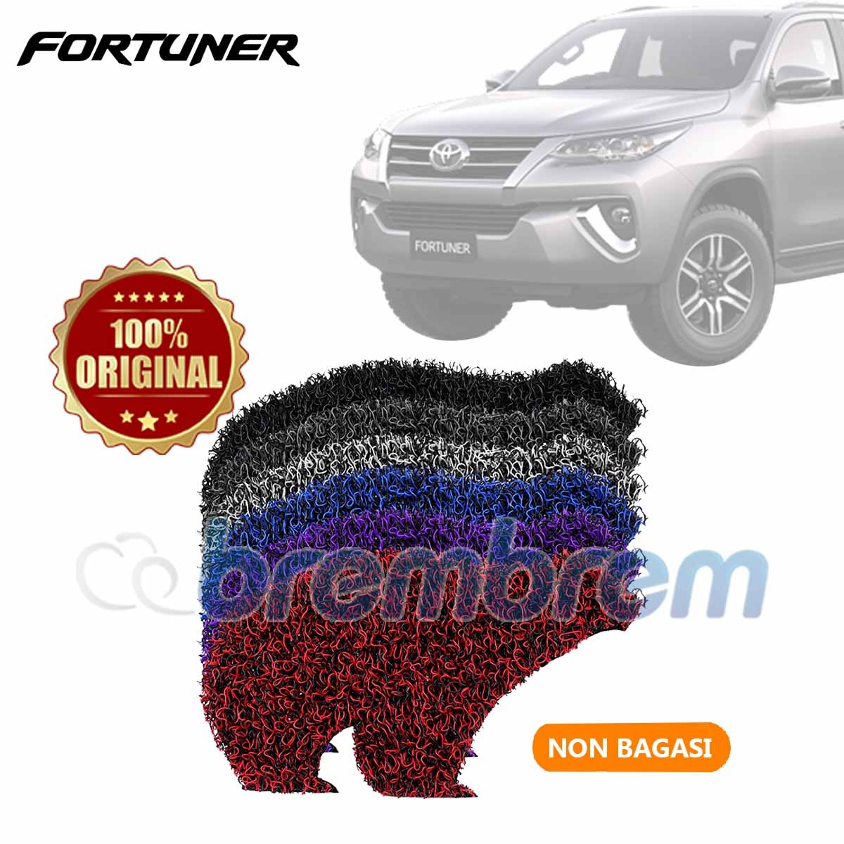 KARPET FIRST CLASS NON BAGASI TOYOTA FORTUNER 2016