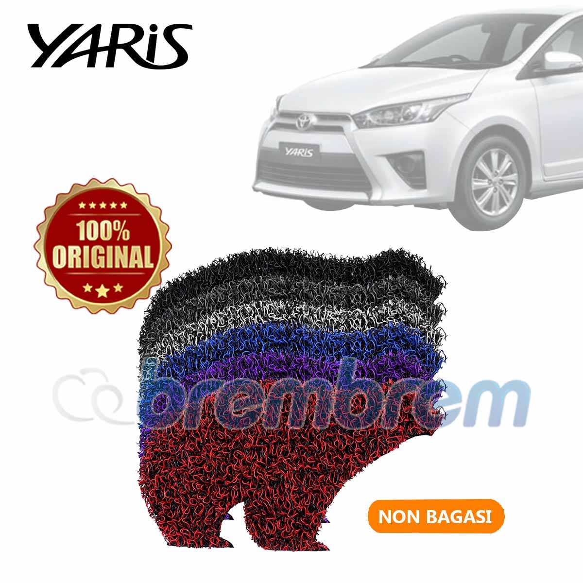 KARPET FIRST CLASS NON BAGASI TOYOTA ALL NEW YARIS