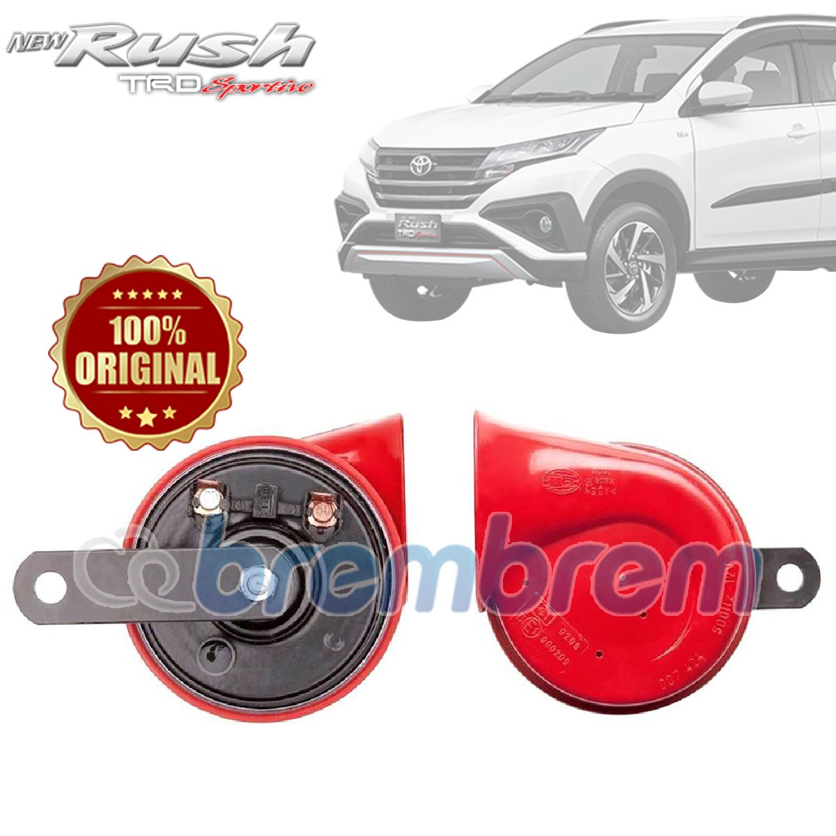 HELLA RED TWIN TONE - KLAKSON MOBIL TOYOTA ALL NEW RUSH