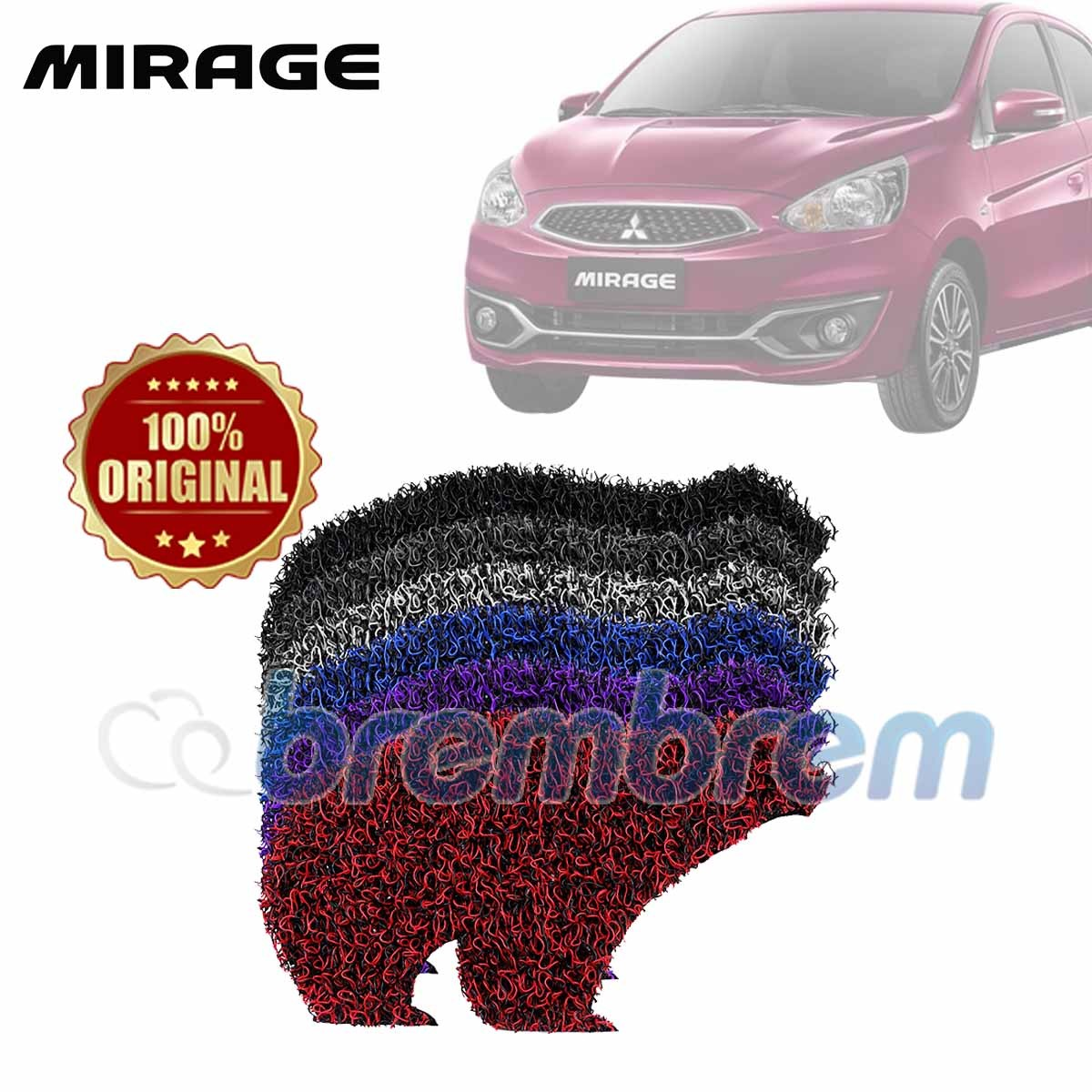 KARPET FIRST CLASS + BAGASI MITSUBISHI MIRAGE