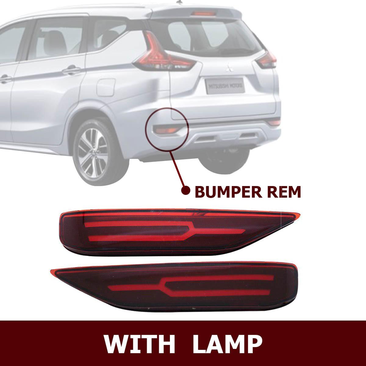 HIRO REAR REFLEKTOR LED BUMPER REM WITH LAMP LAMBORGHINI STYLE MITSUBISHI XPANDER