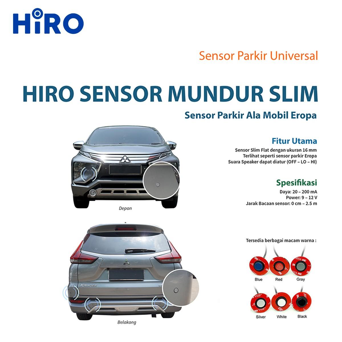 HIRO SENSOR PARKIR SLIM WARNA PUTIH - SENSOR MUNDUR MOBIL