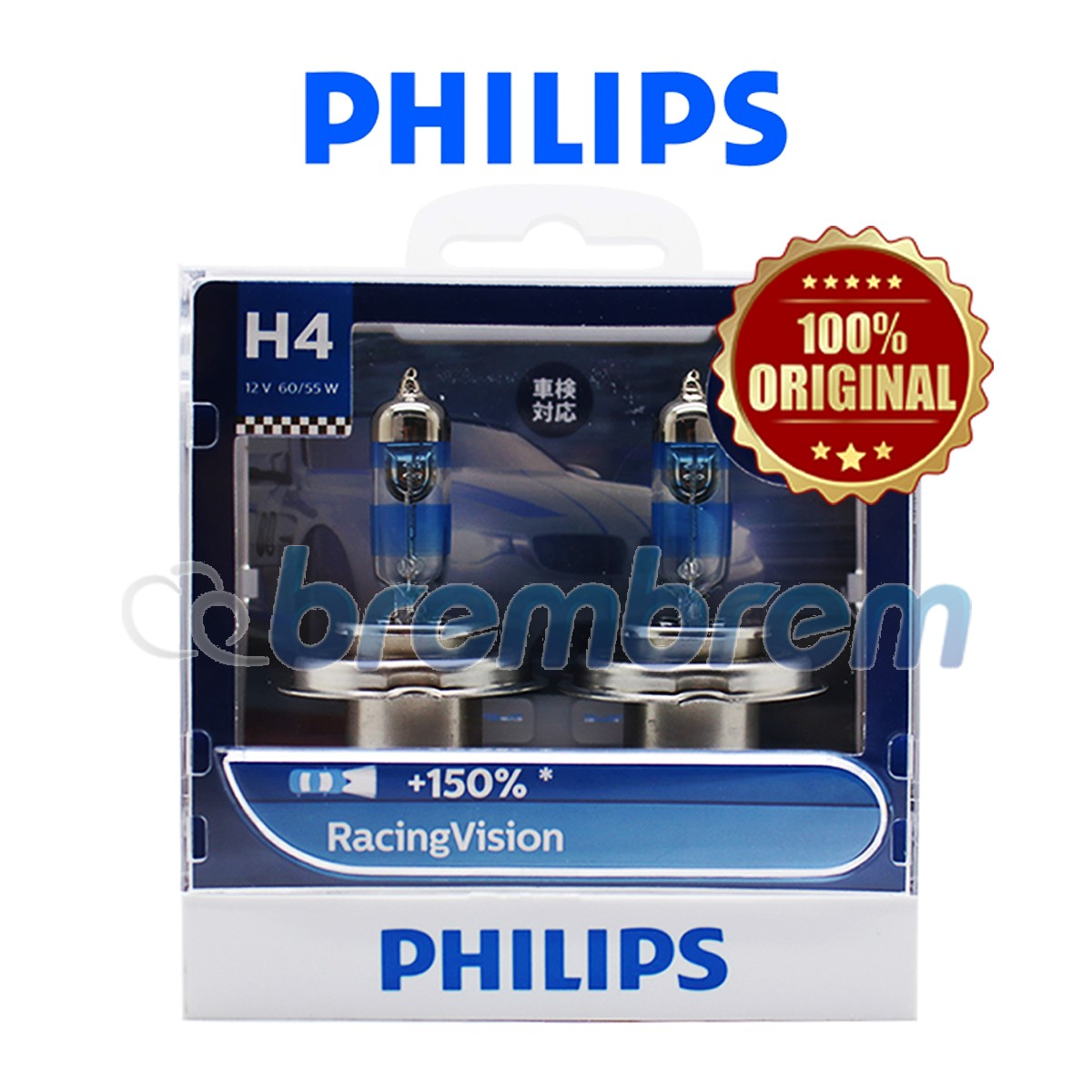 PHILIPS RACING VISION H4 - LAMPU HALOGEN