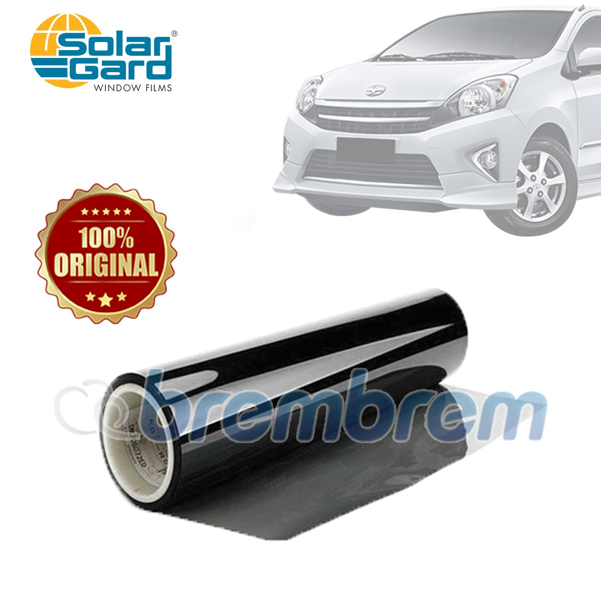 KACA FILM SOLAR GARD BLACK PHANTOM - (SMALL CAR) FULL KACA