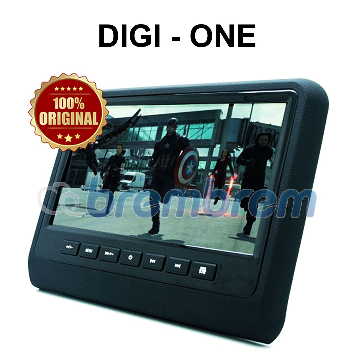 DIGI ONE DG999 BLACK - HEADREST CLIPON MONITOR