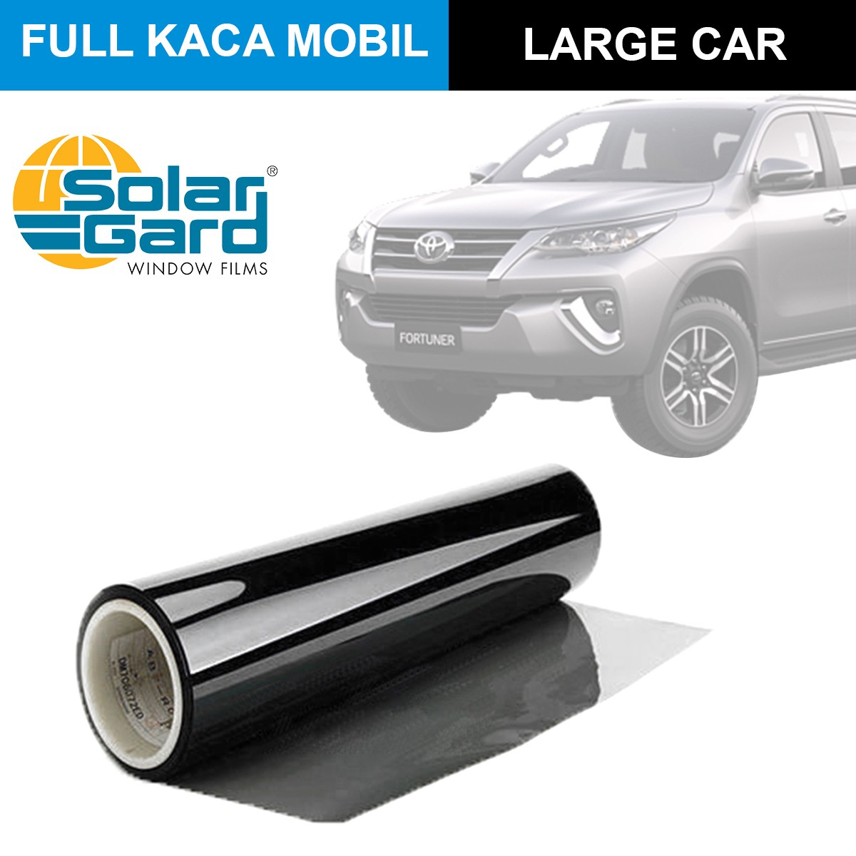 KACA FILM SOLAR GARD KOMBINASI LX + BLACK PHANTOM - (LARGE CAR) FULL KACA