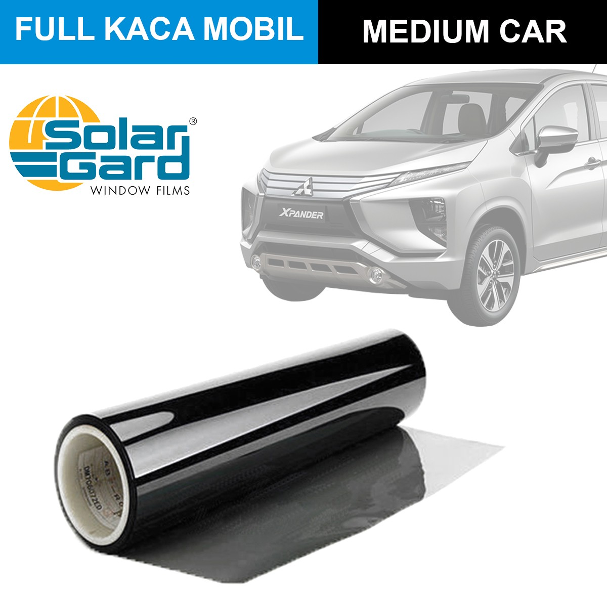 KACA FILM SOLAR GARD KOMBINASI LX + BLACK PHANTOM - (MEDIUM CAR) FULL KACA