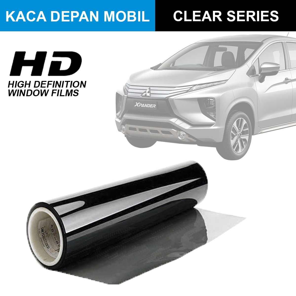 KACA FILM HIGH DEFINITION CLEAR SERIES - (MEDIUM CAR) KACA DEPAN