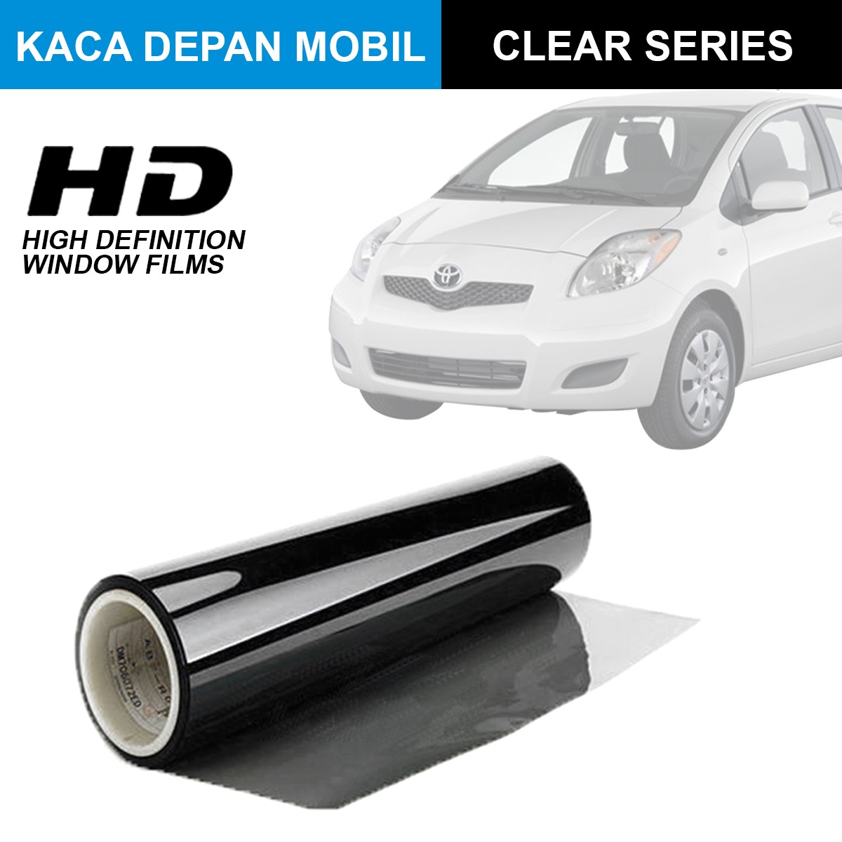KACA FILM HIGH DEFINITION CLEAR SERIES - (SMALL CAR) KACA DEPAN