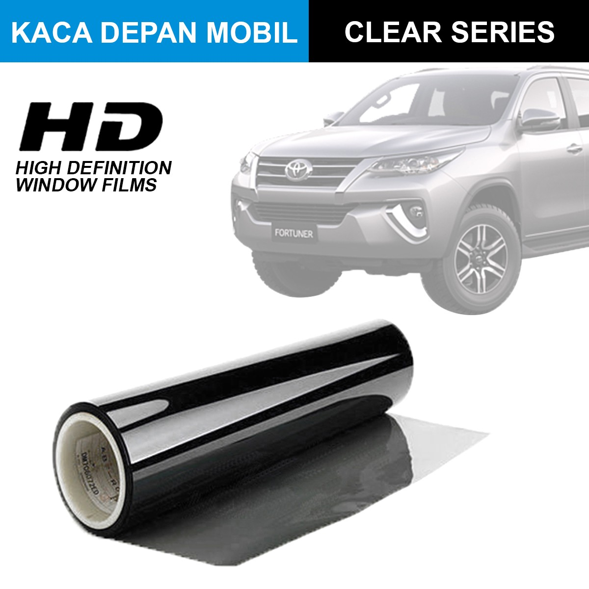 KACA FILM HIGH DEFINITION CLEAR SERIES - (LARGE CAR) KACA DEPAN