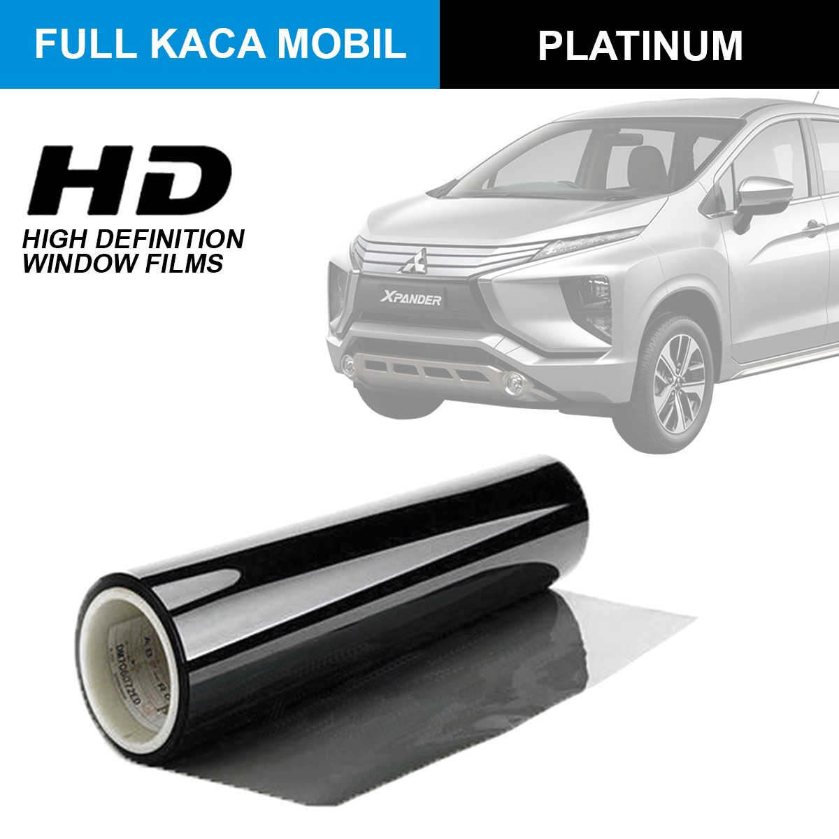 KACA FILM HIGH DEFINITION PLATINUM - (MEDIUM CAR) FULL KACA