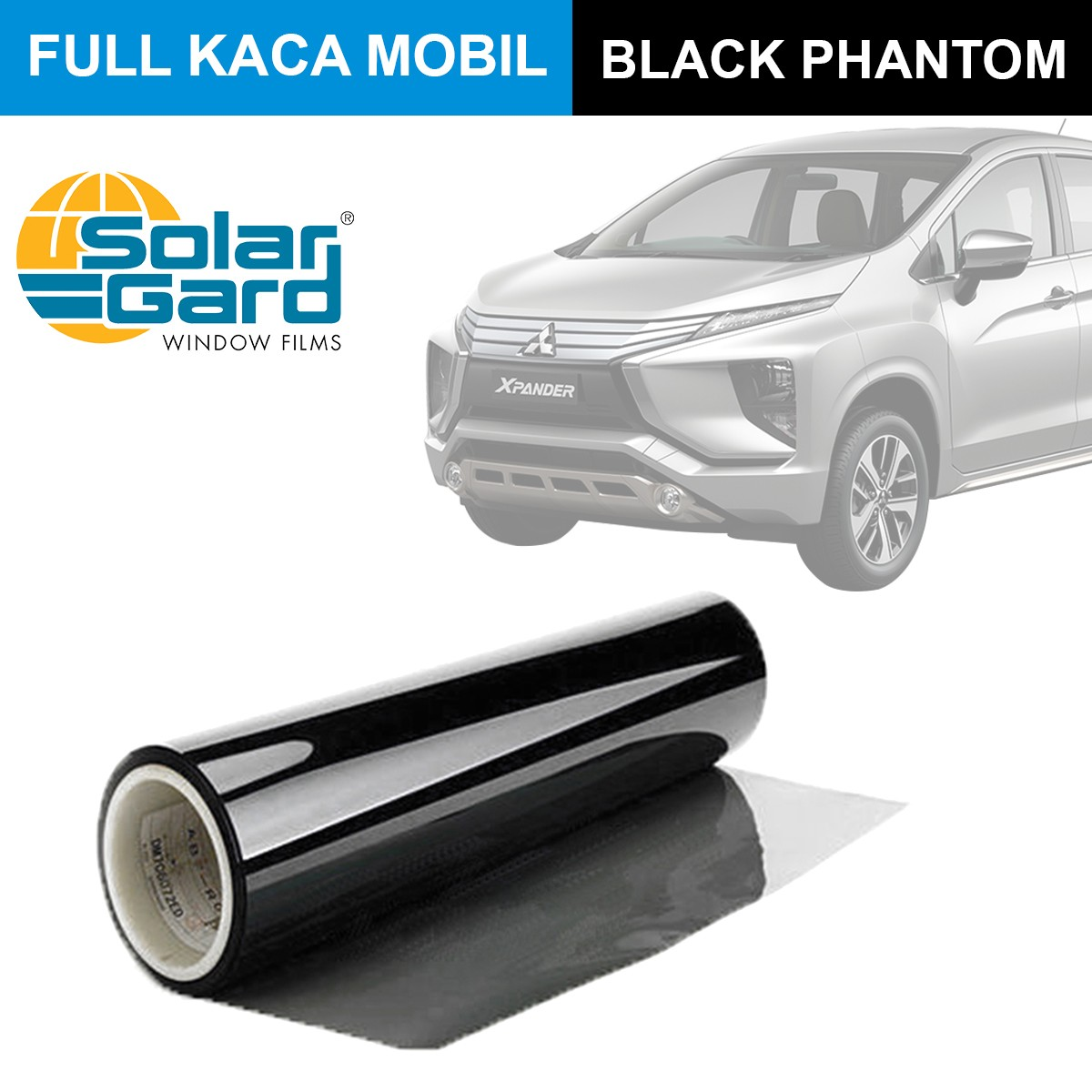 KACA FILM SOLAR GARD BLACK PHANTOM - (MEDIUM CAR) FULL KACA