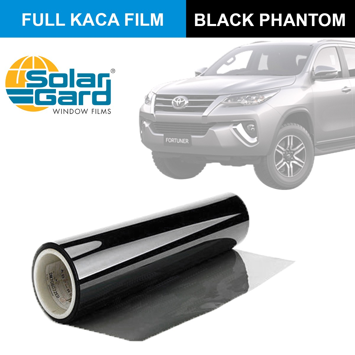 KACA FILM SOLAR GARD BLACK PHANTOM - (LARGE CAR) FULL KACA