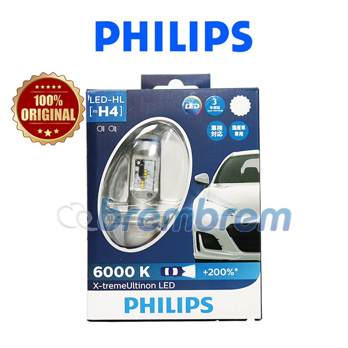 PHILIPS XTREME ULTINON H4 (6000K) - LAMPU LED
