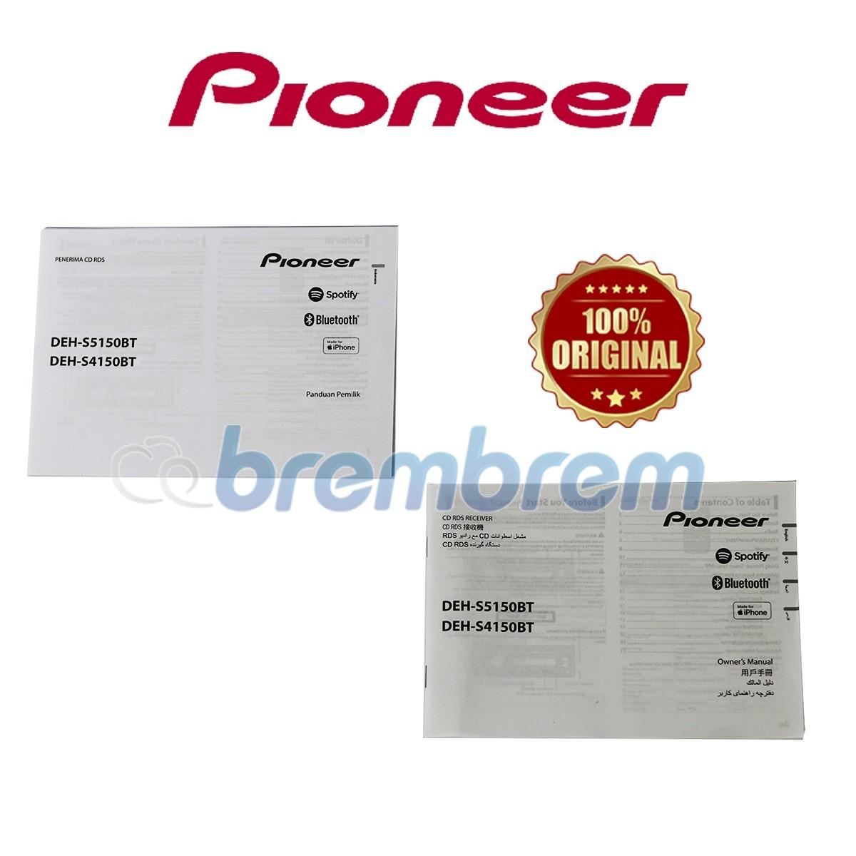 PIONEER DEH S5150BT - HEADUNIT SINGLE DIN