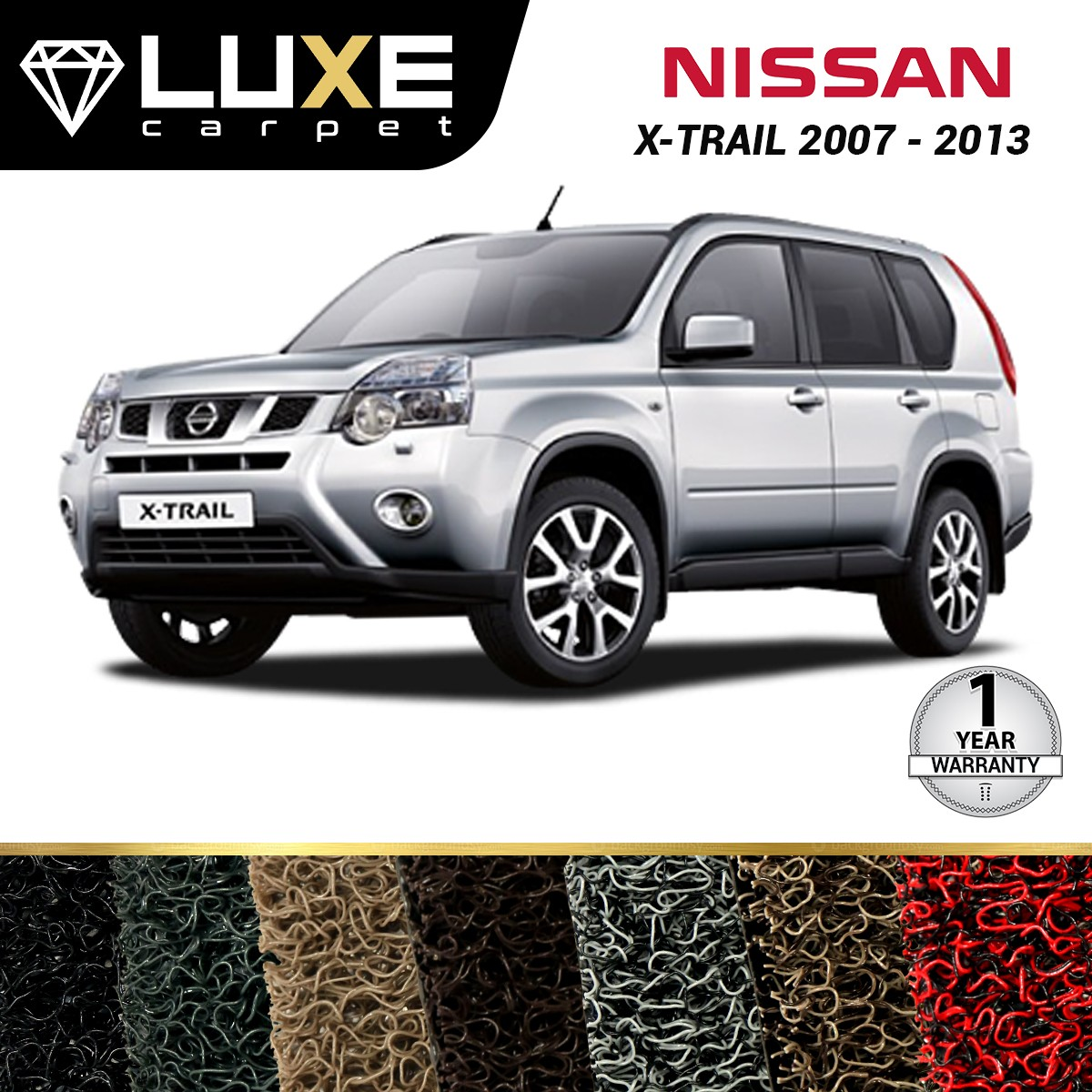 KARPET LUXE + BAGASI NISSAN XTRAIL 2007-2013 - GOLD SERIES