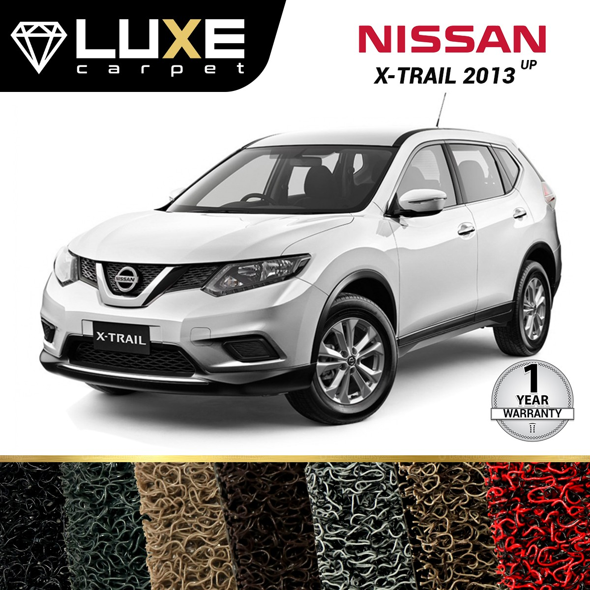 KARPET LUXE + BAGASI NISSAN ALL NEW XTRAIL 2014 UP - GOLD SERIES