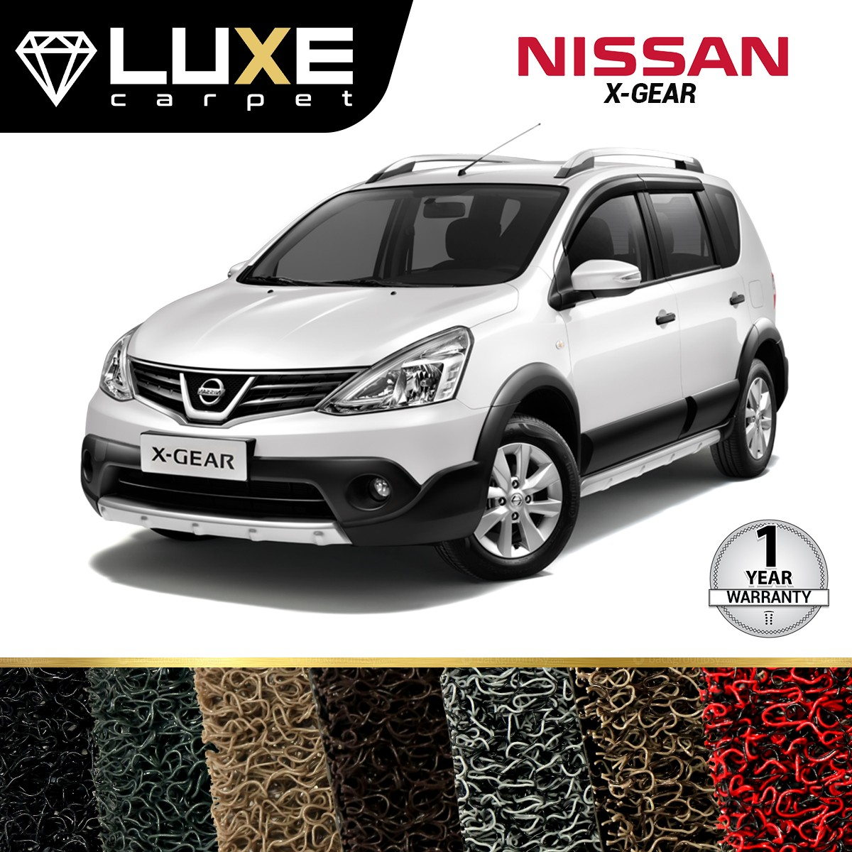 KARPET LUXE NISSAN LIVINA X-GEAR 2012 UP - GOLD SERIES - NON BAGASI