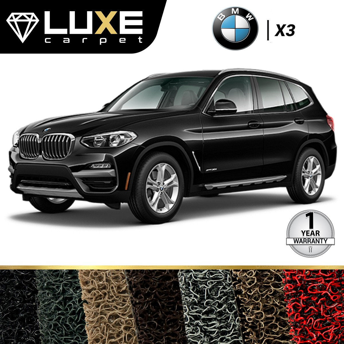 KARPET LUXE BMW X3 2014 UP - GOLD SERIES - NON BAGASI