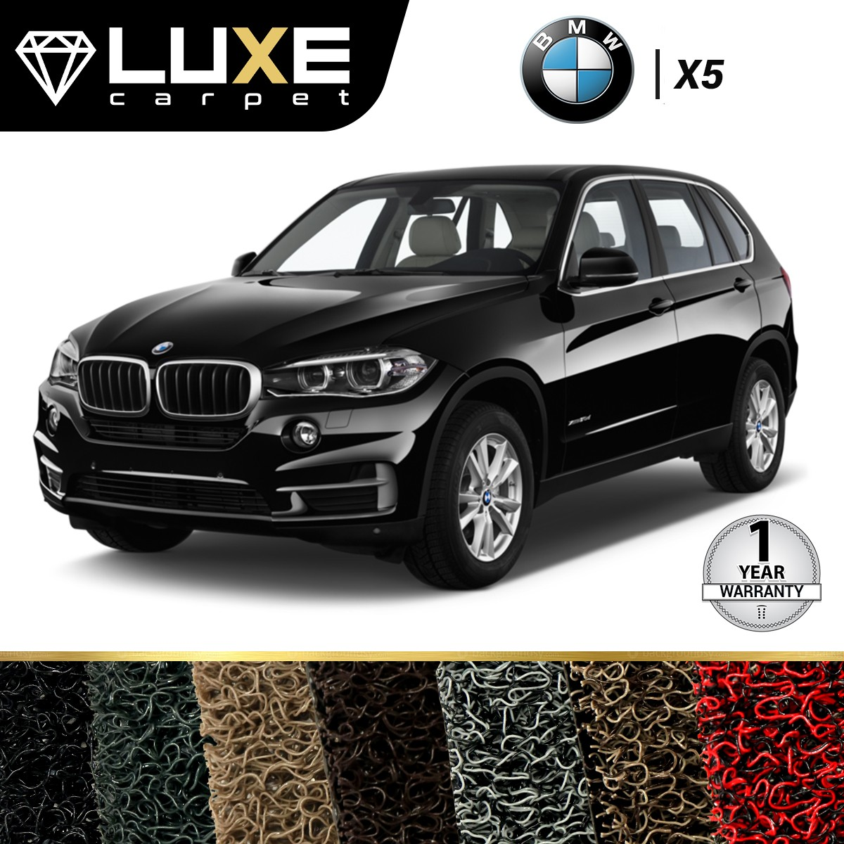 KARPET LUXE BMW X5 2013 UP - GOLD SERIES - NON BAGASI