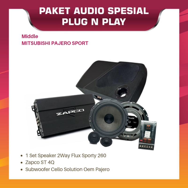 PAKET AUDIO OEM EXECUTIVE MITSUBISHI PAJERO SPORT