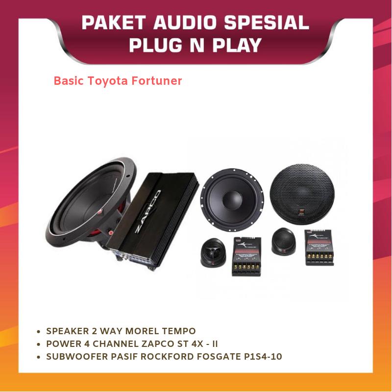 PAKET AUDIO OEM BASIC TOYOTA FORTUNER