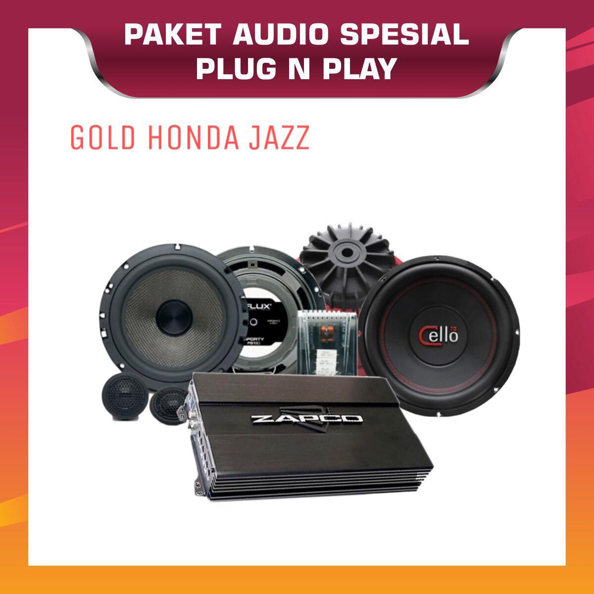 PAKET AUDIO OEM GOLD HONDA JAZZ