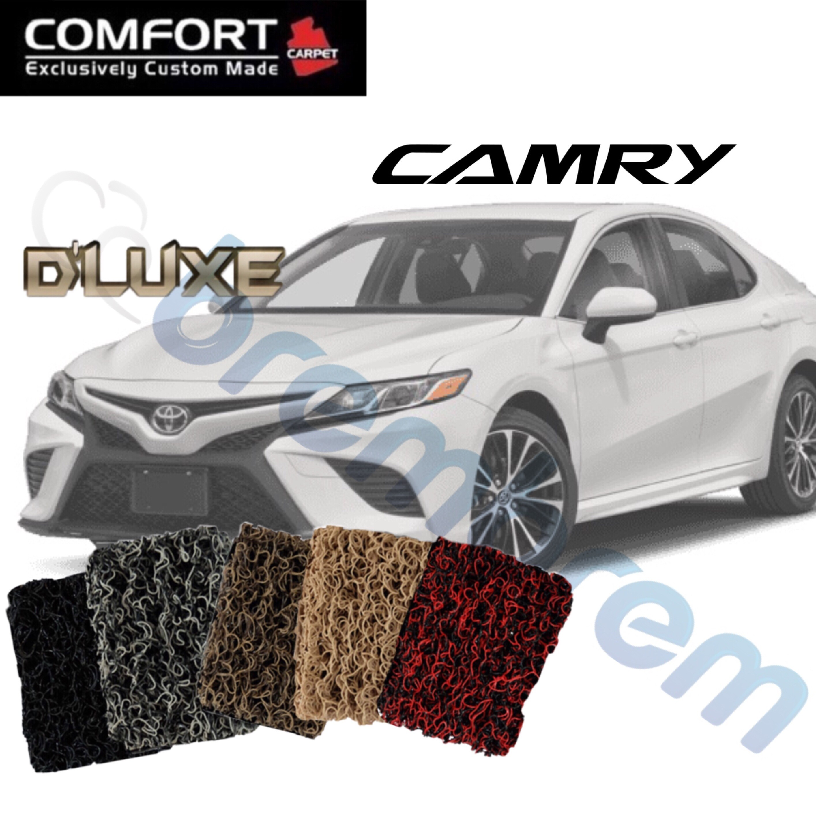 KARPET COMFORT DELUXE NON BAGASI - TOYOTA CAMRY 2019