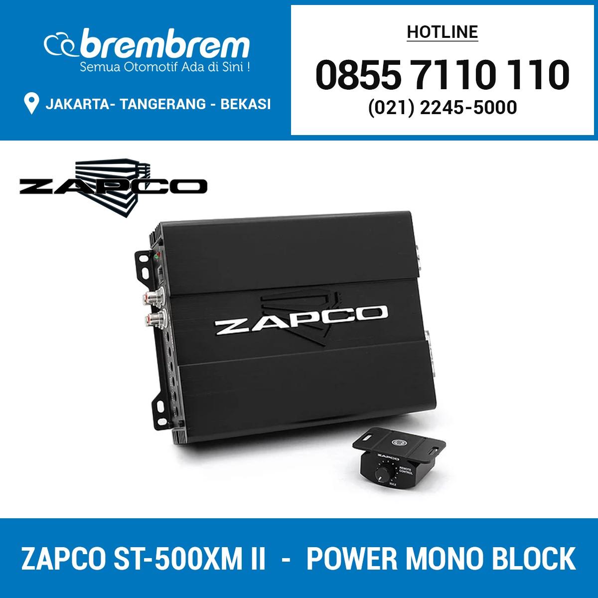 ZAPCO ST-500XM II - POWER MONOBLOCK