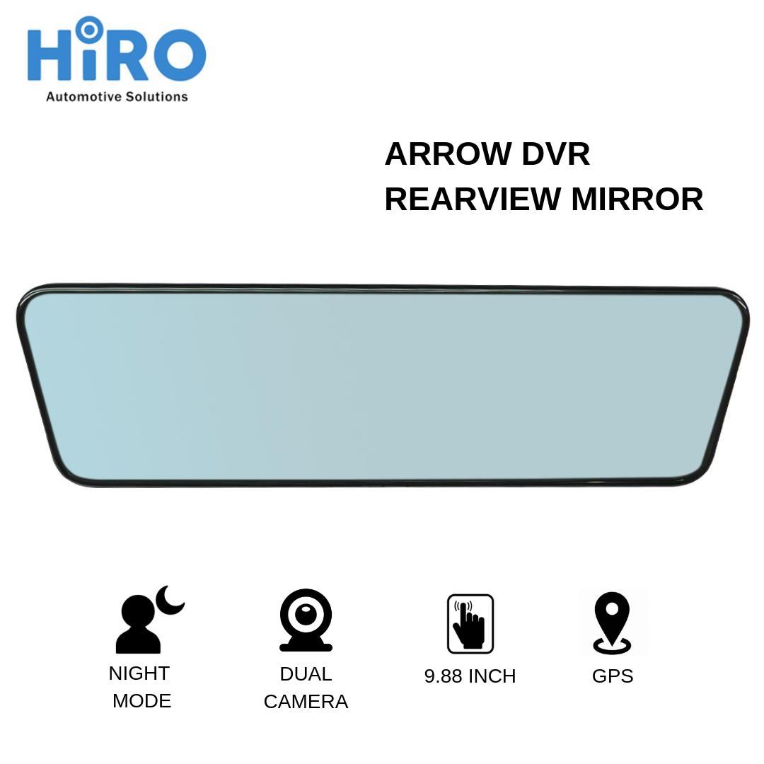 HIRO ARROW DVR REARVIEW MIRROR