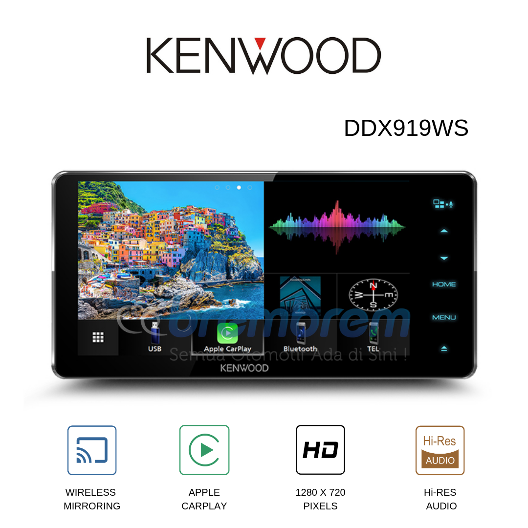 KENWOOD DDX 919WS - HEADUNIT 2DIN HIGH END SERIES