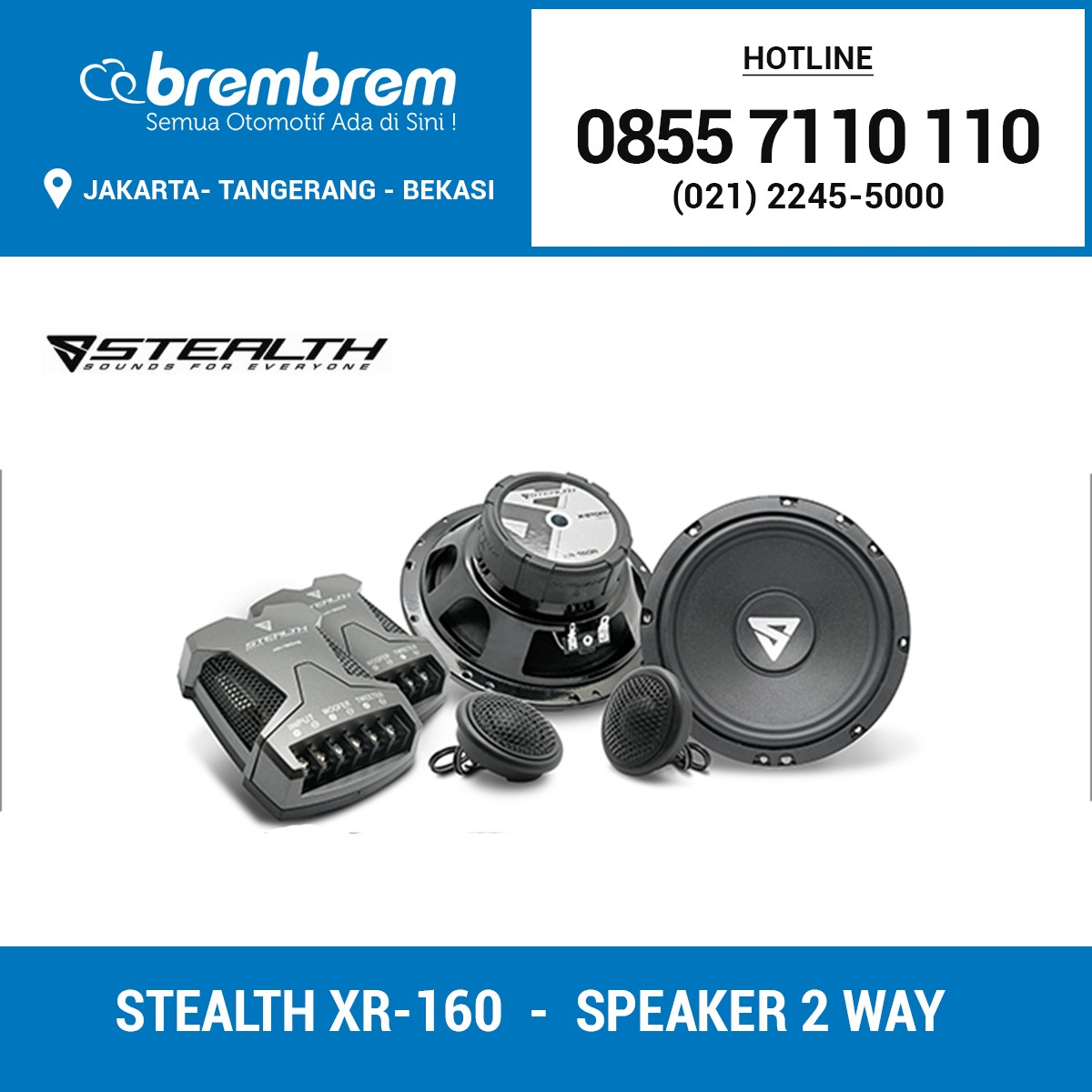 STEALTH XR-160 - SPEAKER 2 WAY
