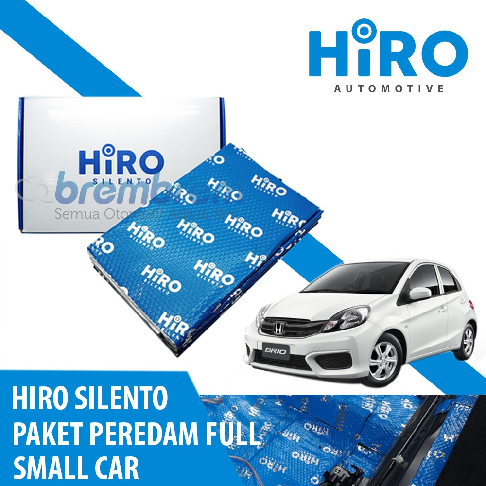 HIRO SILENTO - PAKET PEREDAM FULL - SMALL CAR