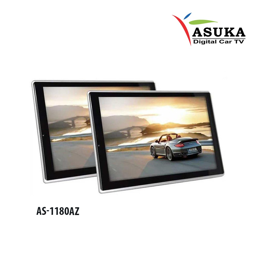 ASUKA AS 1180AZ - MONITOR HEADREST CLIPON ANDROID 11,8 INCH [AUDIO KELUARGA]