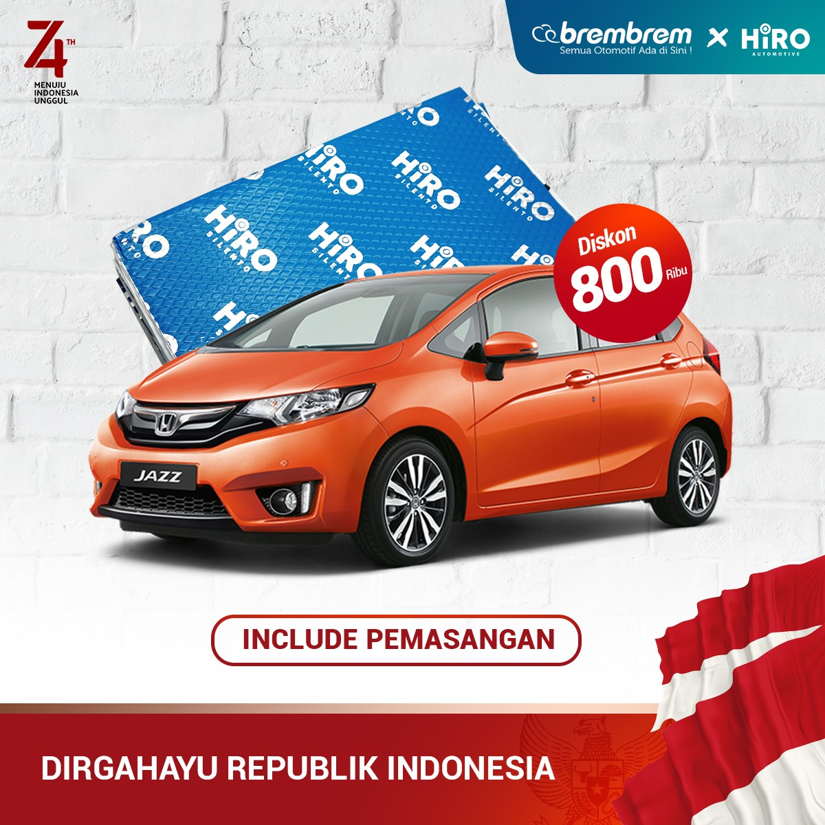 PROMO MERDEKA | HIRO SILENTO - PAKET PEREDAM FULL - MEDIUM CAR