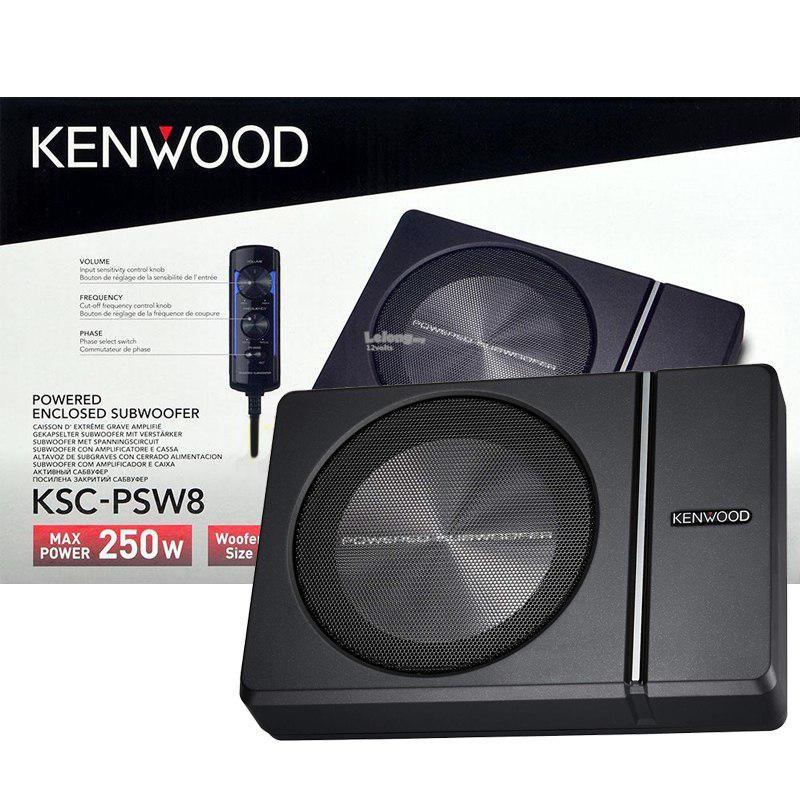 KENWOOD KSC-PSW8 - SUBWOOFER AKTIF 8 INCH [KOLONG JOK]