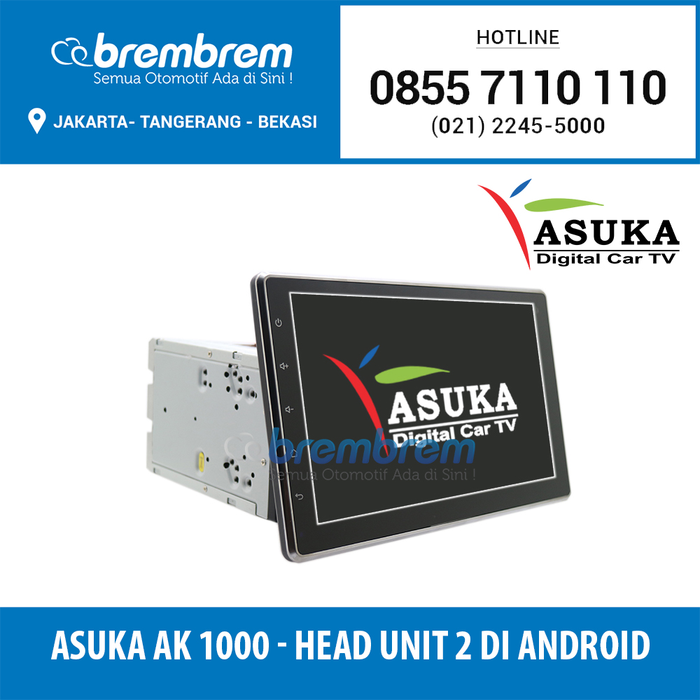 Asuka AK 1000 - Head Unit 2 Din Android System