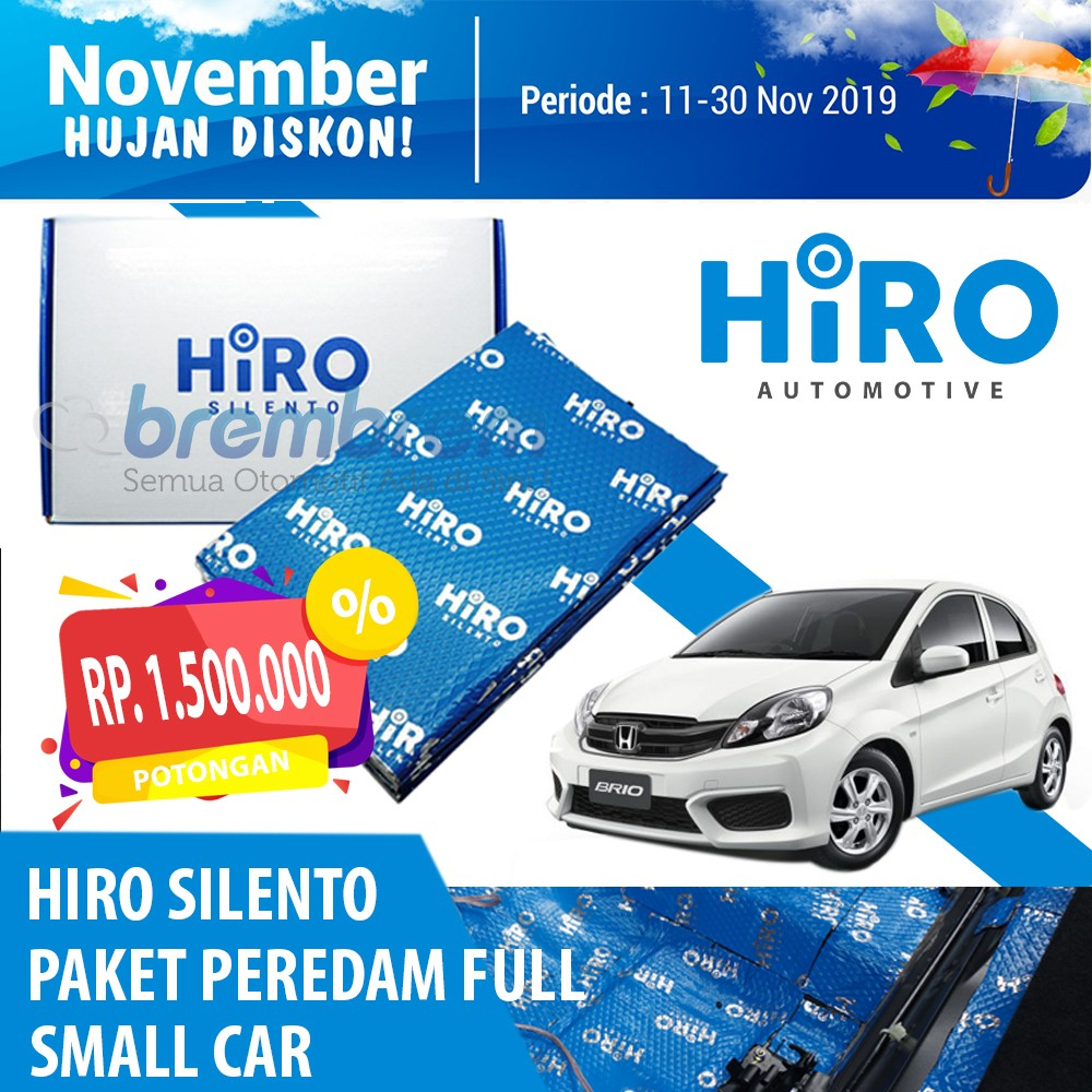 NOVEMBER HUJAN DISKON | HIRO SILENTO - PAKET PEREDAM FULL BODY (SMALL CAR)