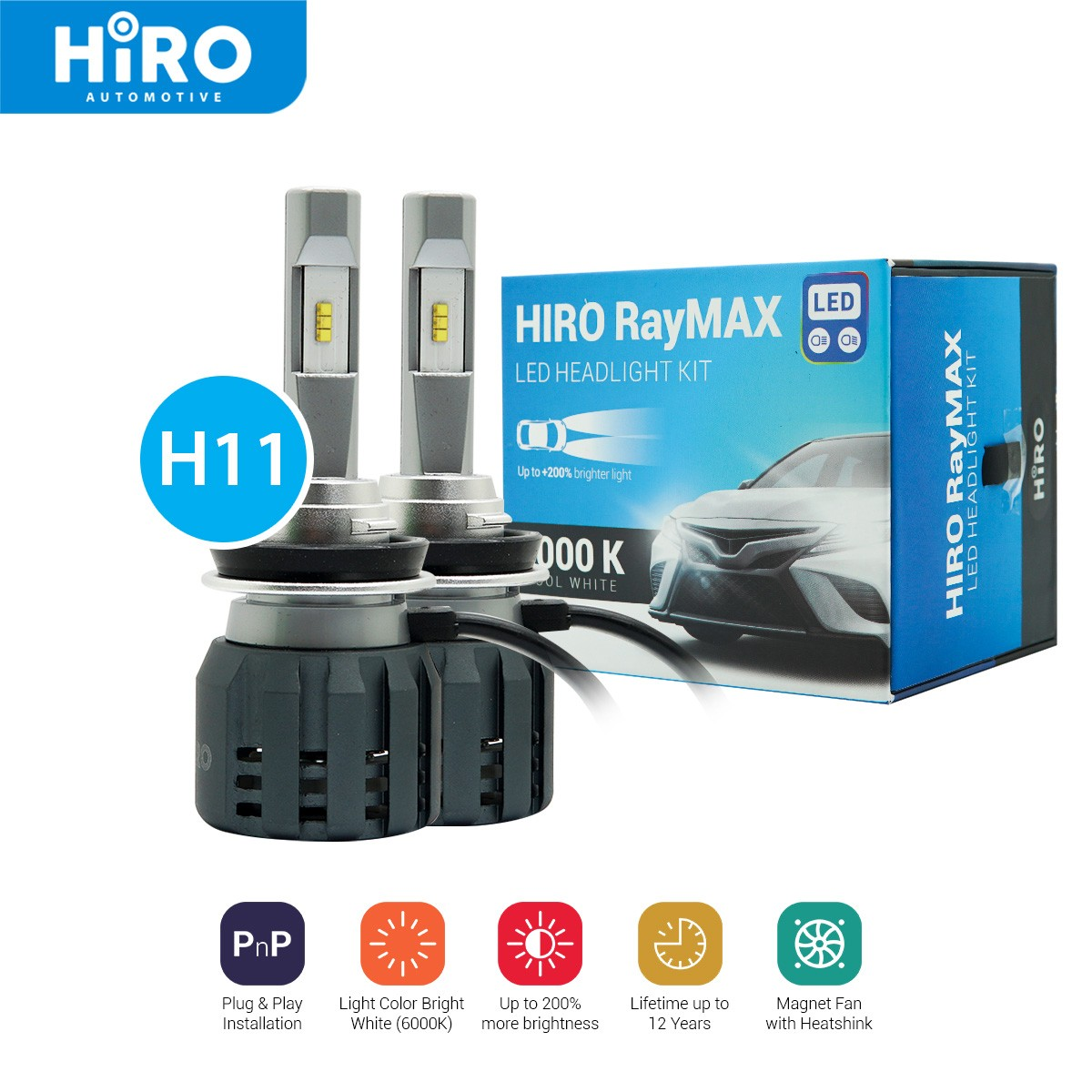 HIRO LED RAYMAX - LAMPU LED H11 6000K