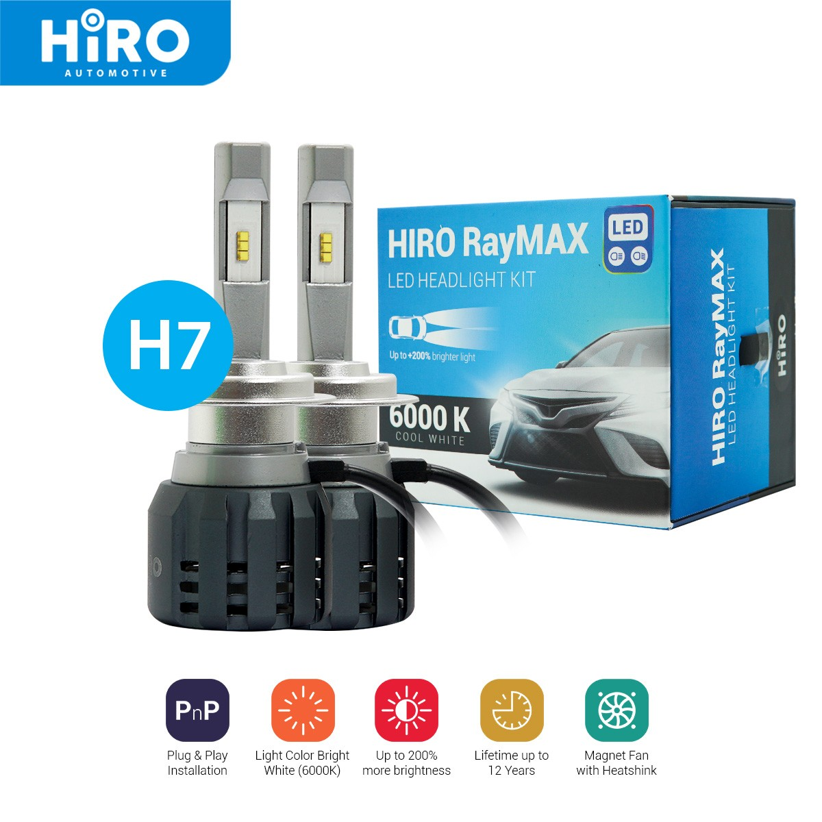 HIRO LED RAYMAX - LAMPU LED H7 6000K