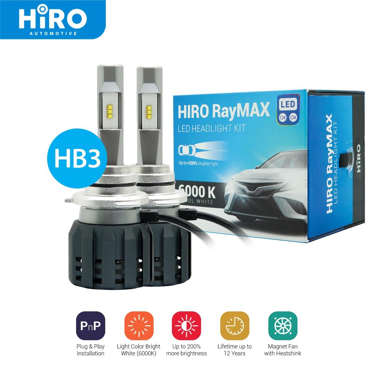 HIRO LED RAYMAX - LAMPU LED HB3 6000K
